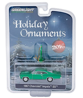 diecast chevrolet impala holiday ornaments greenlight