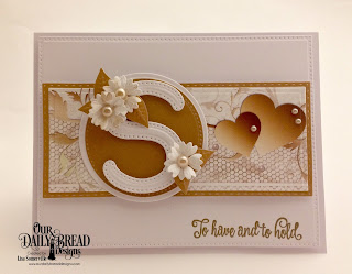 Our Daily Bread Designs Stamp Set: Long Lasting Love, Paper Collection: Wedding Wishes, Custom Dies: Bitty Blossoms, Foliage & Leaves, Pierced Circles, Circles, Double Stitched Rectangles, Pierced Rectangles, Rectangles, Letter S