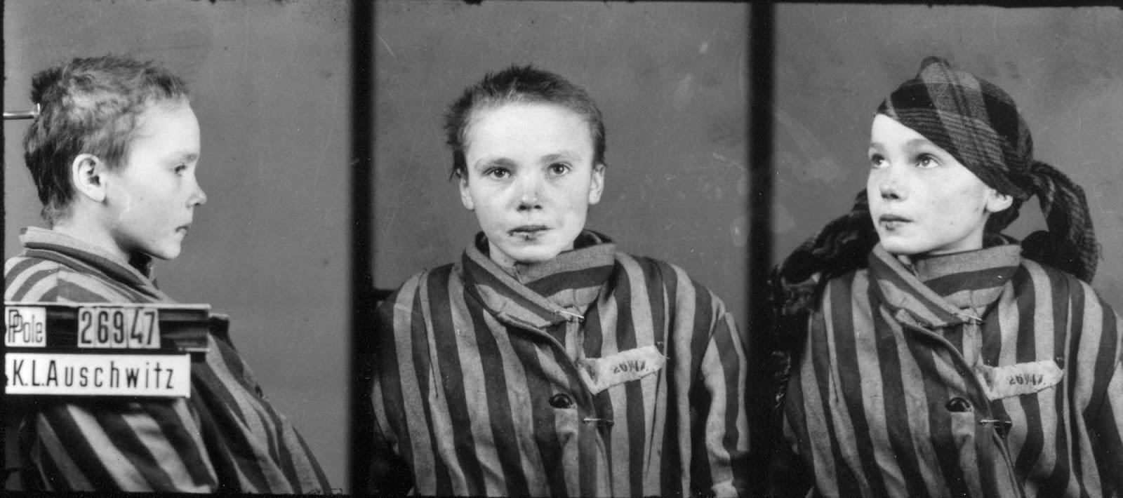 Czesława Kwoka in 1942 or 1943.