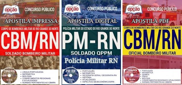apostila PM-RN 2018: Concurso Soldado PM Polícia Militar RN