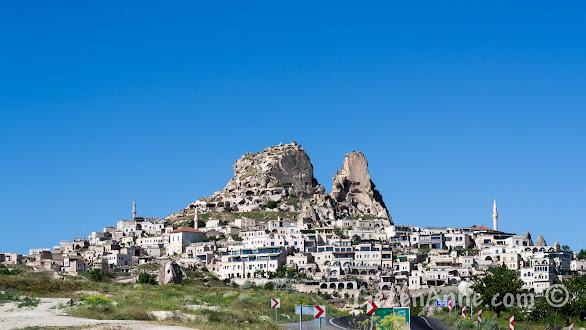 Uçhisar ve Uçhisar kalesi, Kapadokya
