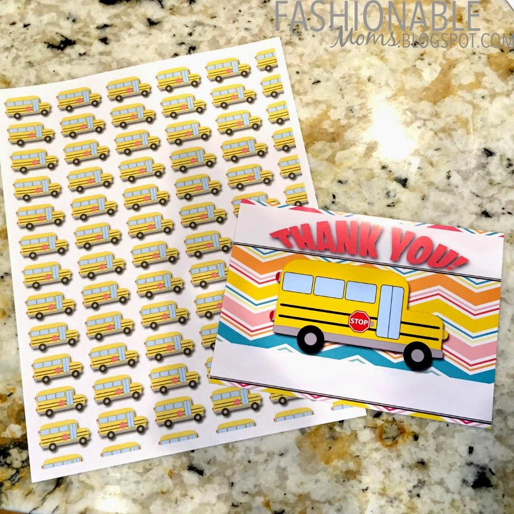 My Fashionable Designs Free Printable Bus Driver Thank