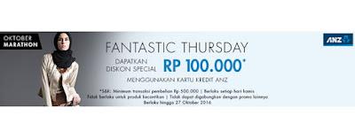 Fantastic Thursday Diskon 100ribu Bank ANZ - Hijabenka