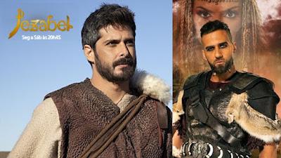 Profeta Elias e o General Hannibal da macrossérie Jezabel