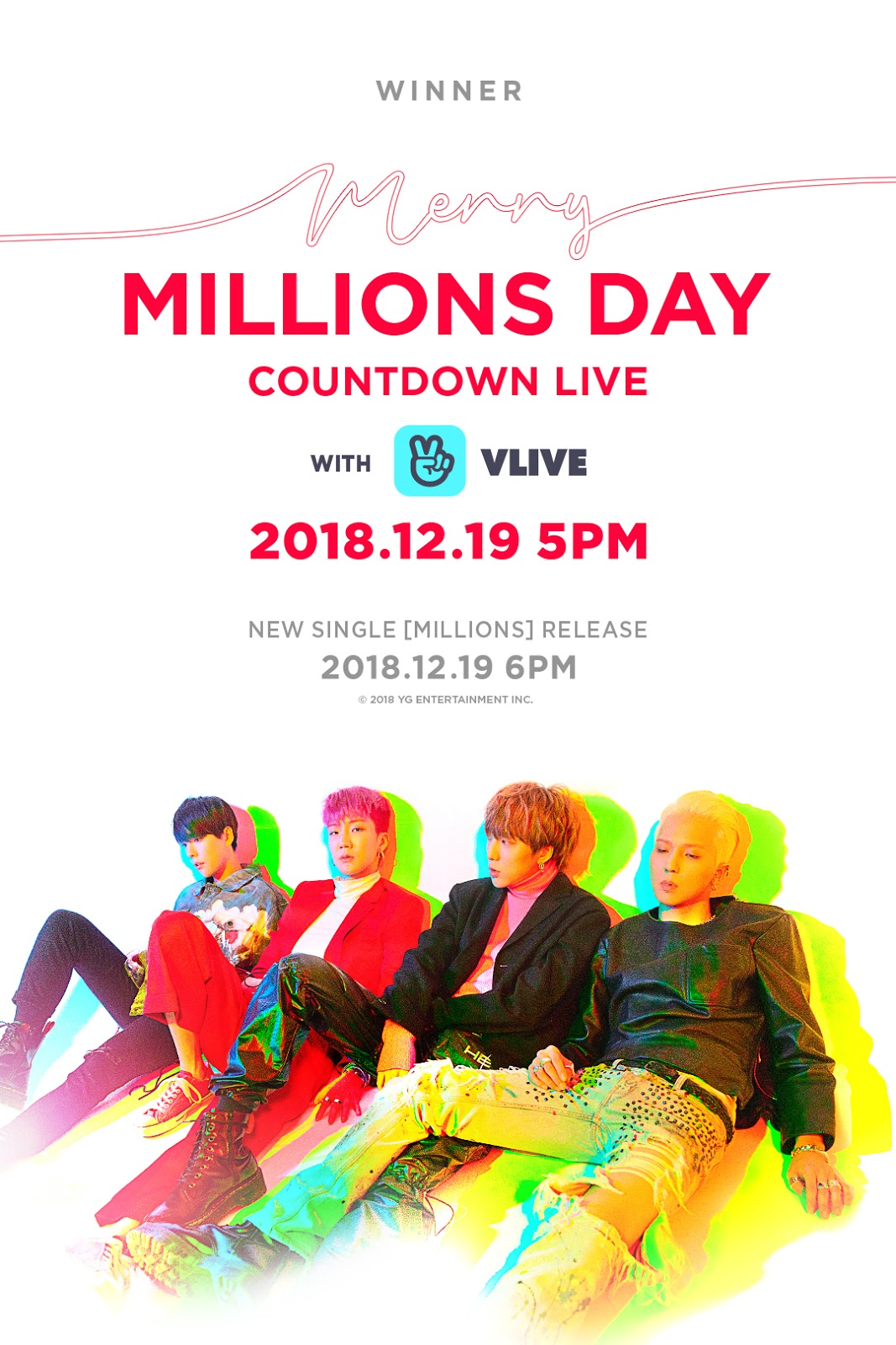 WINNER – COUNTDOWN LIVE 'MERRY MILLIONS DAY'
