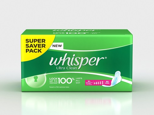 Whisper Ultra Clean XL Wings Low Price