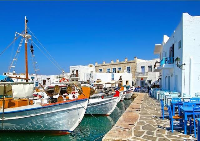 Restaurantes na ilha de Paros, Grécia