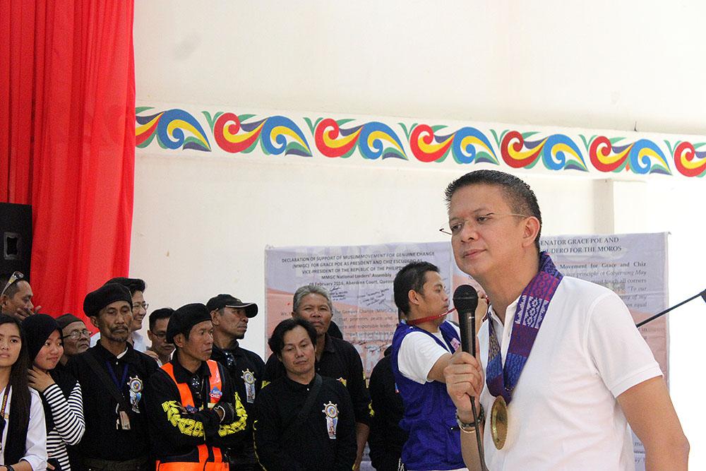 Sen. Chiz Escudero speaking in MSU Marawi