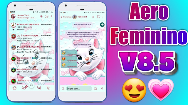 DOWNLOAD WHATSAPP AERO FEMININO V8.5 APK Updated