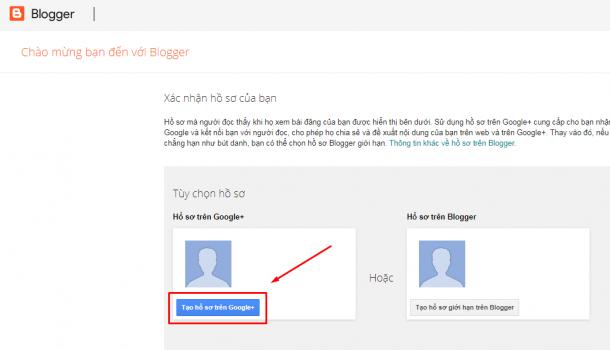 Tạo hồ sơ trên Google+