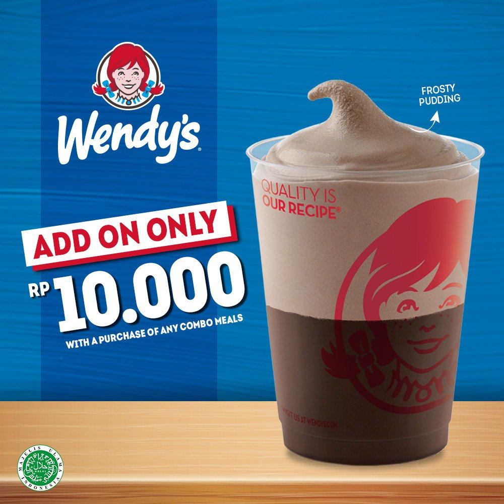 #Wendy's - #Promo Tambah 10 Ribu Bisa Dapat Frosty Pudding