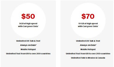 Verizon best no contract smartphone plans usa