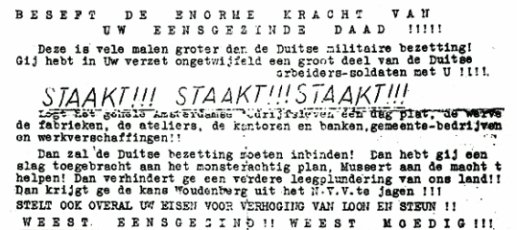 25 February 1941 worldwartwo.filminspector.com Tirpitz Dutch strike notice