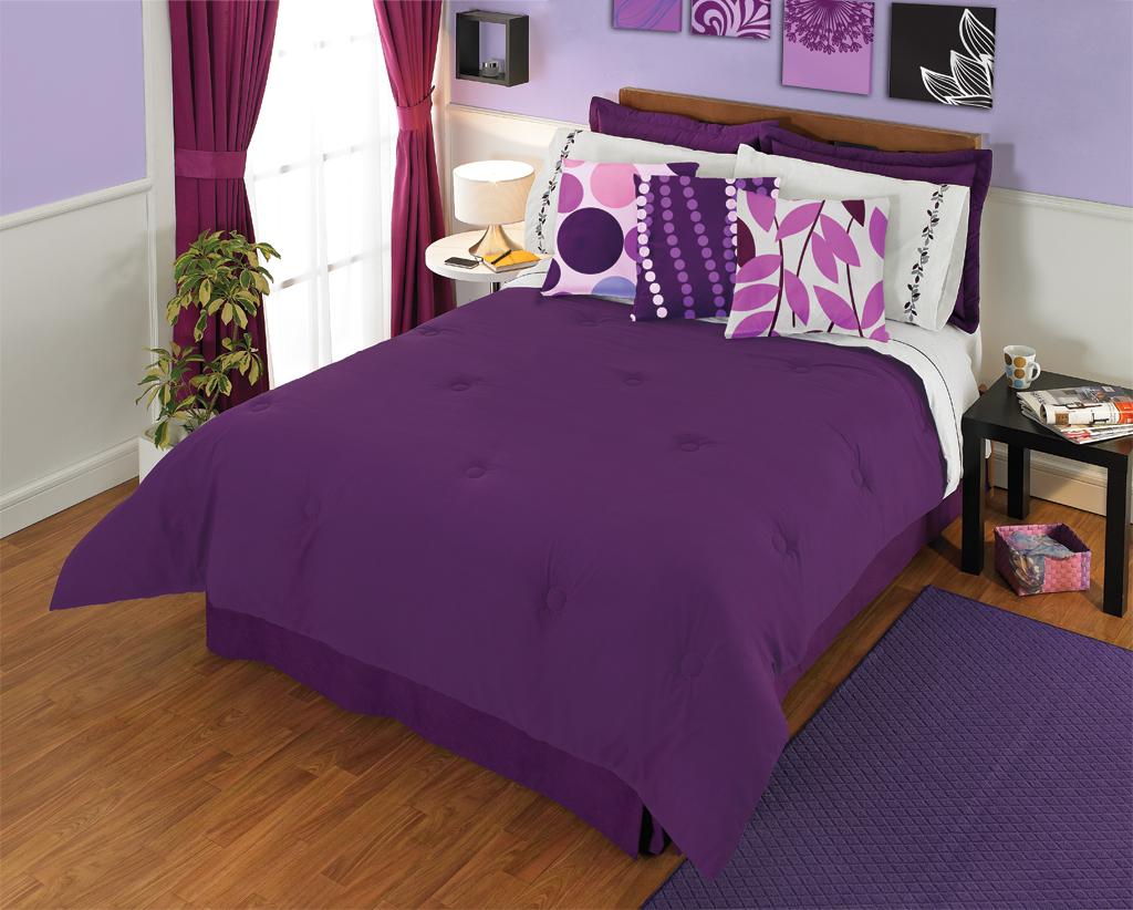 Quartos de casal em tons de roxo e violeta ~ Decoração e