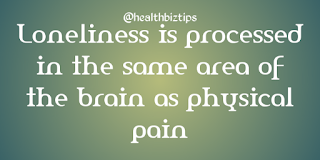 Health Facts & Tips @healthbiztips: Loneliness is processed in the same area of the brain as physical pain.