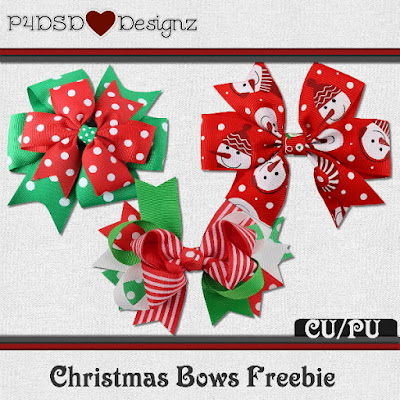 Christmas Bows Freebie