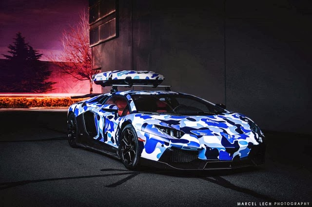 Arctic Camo Lamborghini Aventador Ready For Winter In Whistler