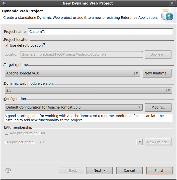 WHY COUCH: How to create custom tags for JSPs in Eclipse