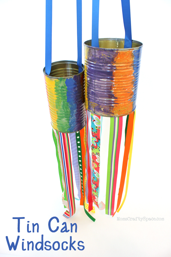 Kids craft recycled tin can windsocks happiness is homemade for Tin can tin man craft