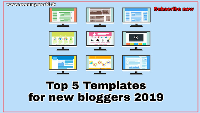Top 5 themes/templates for new bloggers 2019