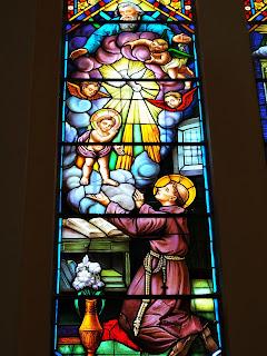 A Prece aos Céus - Vitral da Igreja Santo Antônio, Porto Alegre