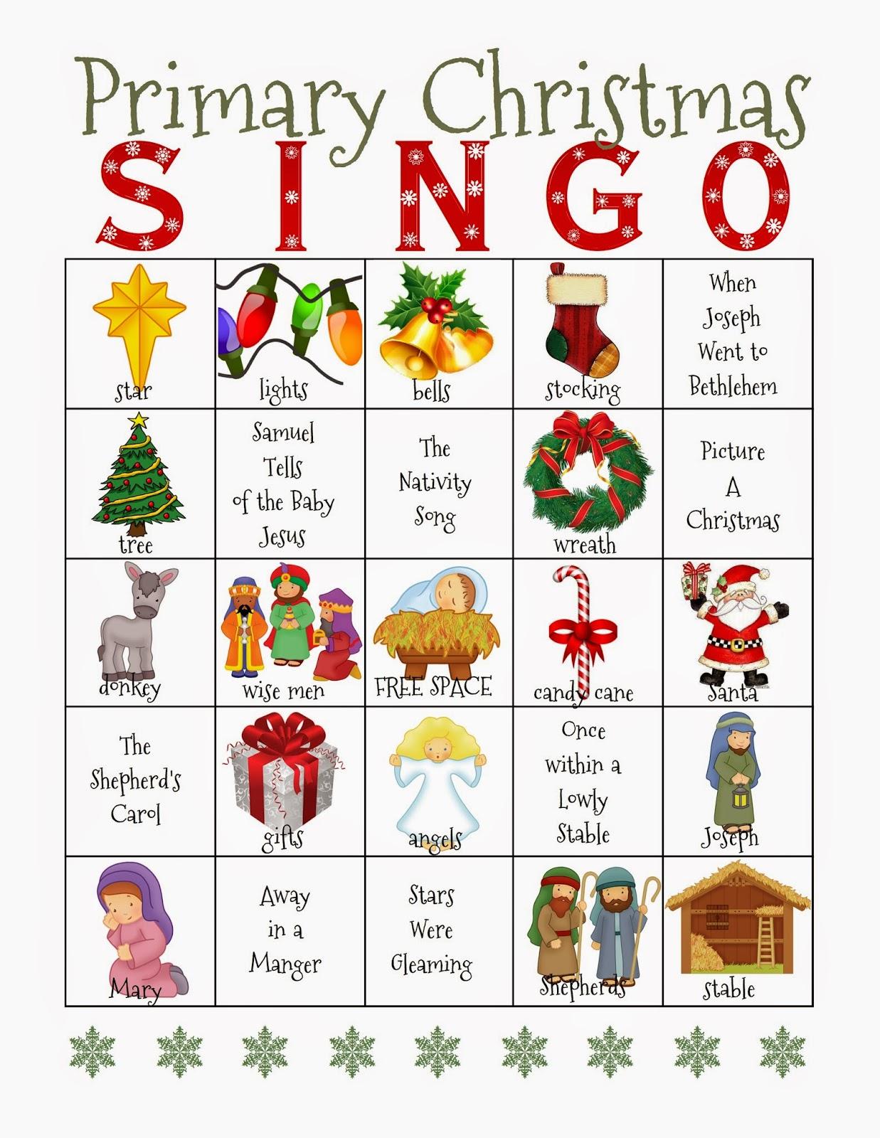 Camille S Primary Ideas Christmas Singo Primary