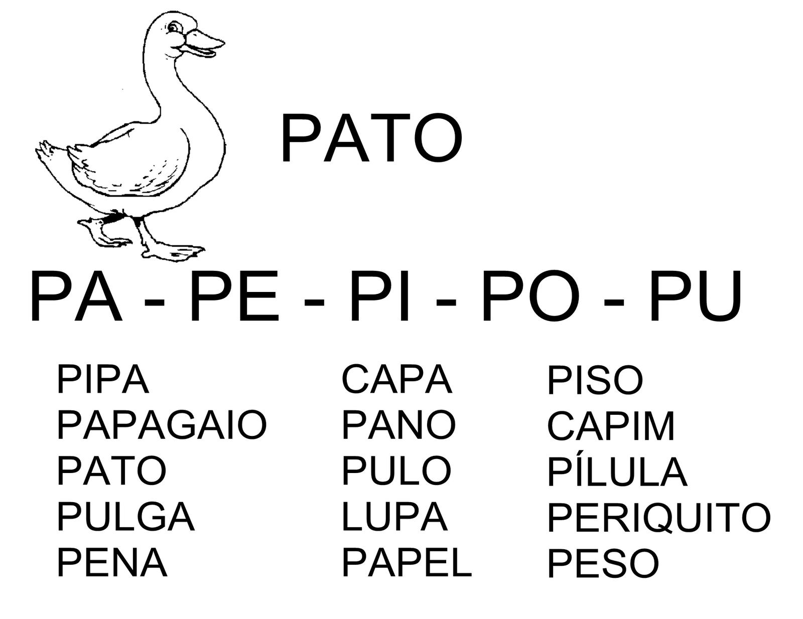 Silabas Con Pa Pe Pi Po Pu