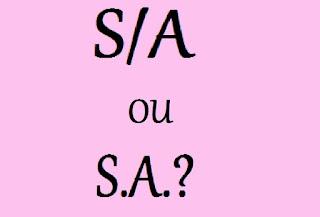 Como se escreve: S/A ou S.A.?