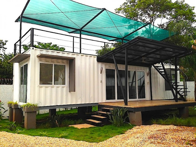 Artificial Green Roof + Deck Shipping Container Home, Costa Rica 4