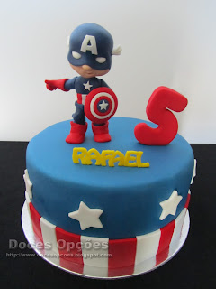 bolo aniversário capitao america doces opções