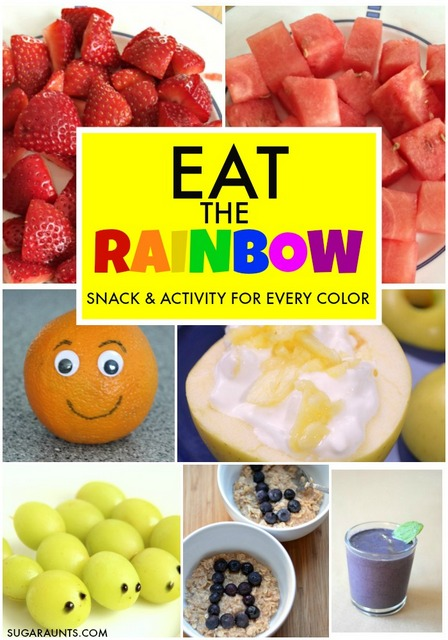Kids can eat healthy foods through the rainbow with a snack and activity or craft for each color.