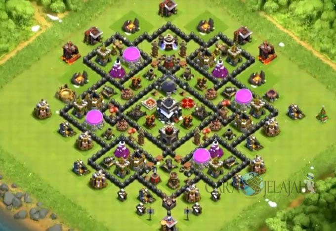 Base Farming TH 9 COC Update Bomb Tower Terbaru 2017 Tipe 18