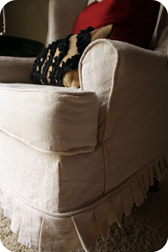 how to make slipcover for wingback chair ergonomic nz remodelaholic | slipcovered chair..(that i want!)