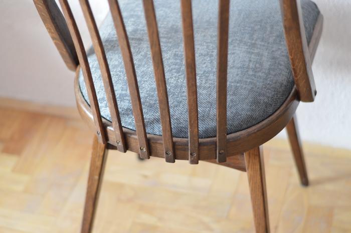 metamorfoza krzesła, jak odmienić krzesło, tapicerowanie krzesła, krzesła do jadalni, odnawiamy meble, jak odnowić meble, meble prl