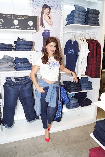 Jacqueline Fernandez Stills At Lee Brand New Collection Launch
