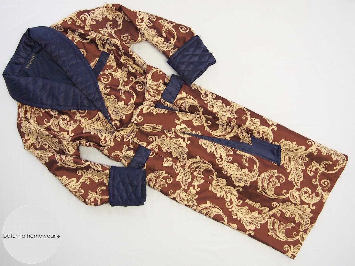 Men's Silk, Cotton And Velvet Dressing Gowns