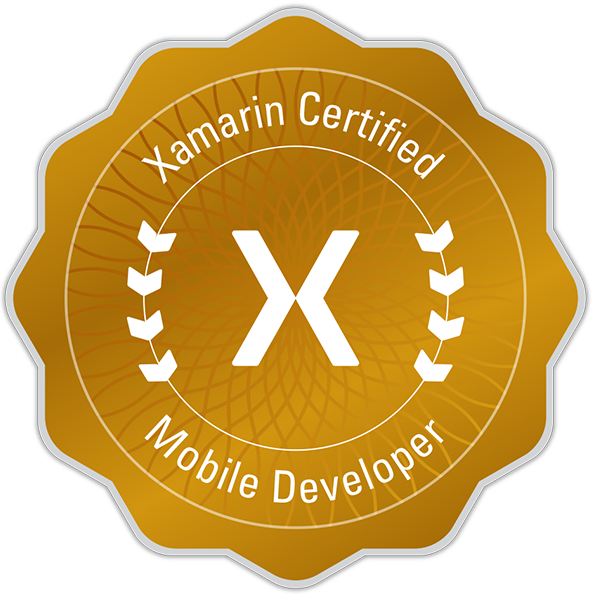 2013 - 2019 Xamarin Certified Mobile Developer