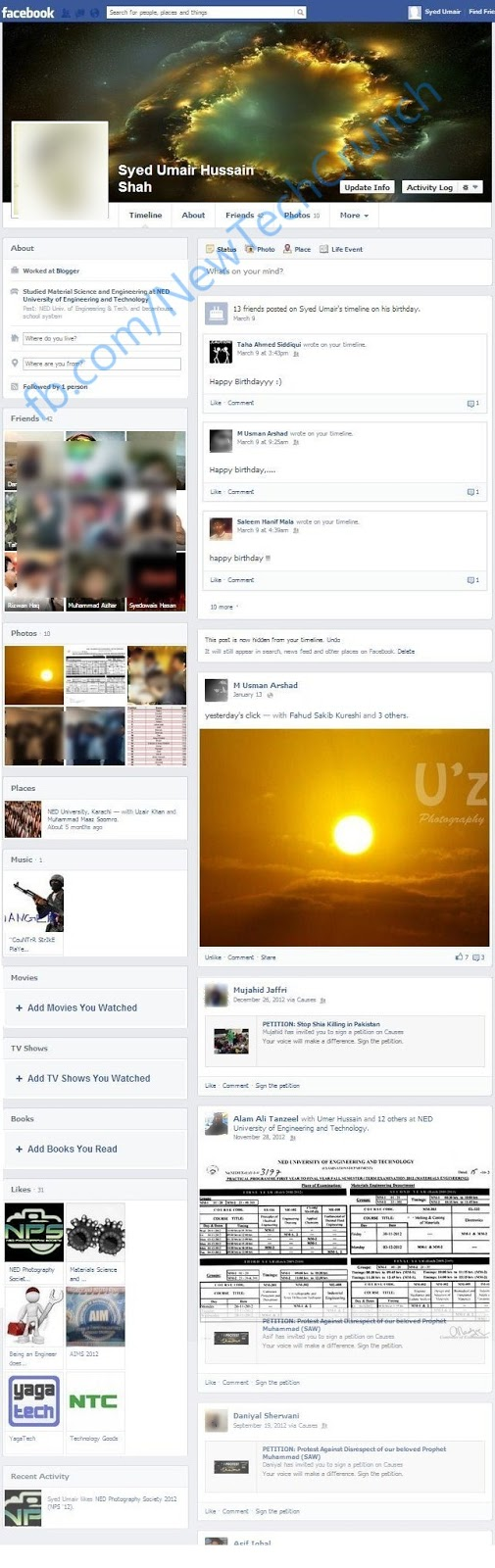 New Facebook Timeline Profile design