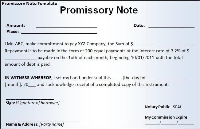 Live Economics Sample Copy Promissory Note