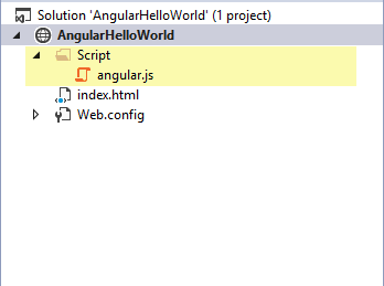 Solution Explorer AngularJS