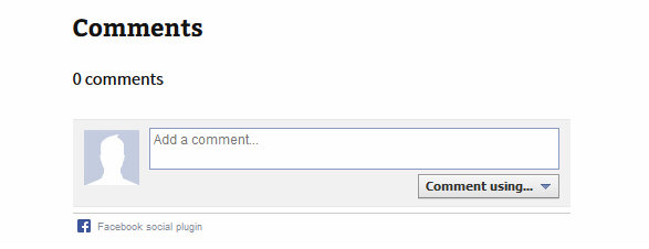 Facebook Commenting System