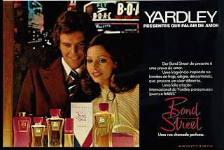 anúncio perfumes yardley de 1974.  Moda anos 70; propaganda anos 70; história da década de 70; reclames anos 70; brazil in the 70s; Oswaldo Hernandez