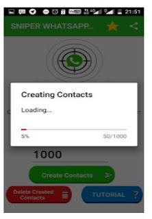 Proses Generate Contacs Sniper Whatsapp Pro