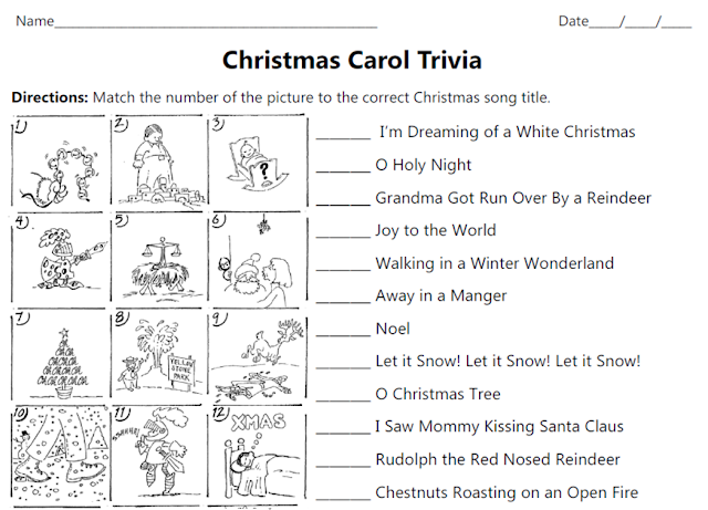 Christmas Carol Trivia.Musical Musings Christmas Carol Trivia
