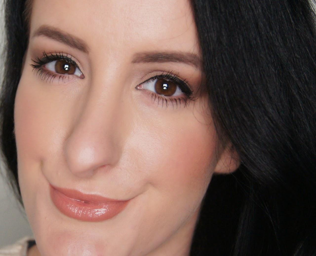 valentine's makeup look nude lip option laura mercier liner estee lauder crystal baby lipstick swatch