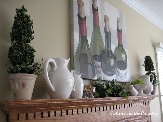 Wine Themed Mantel