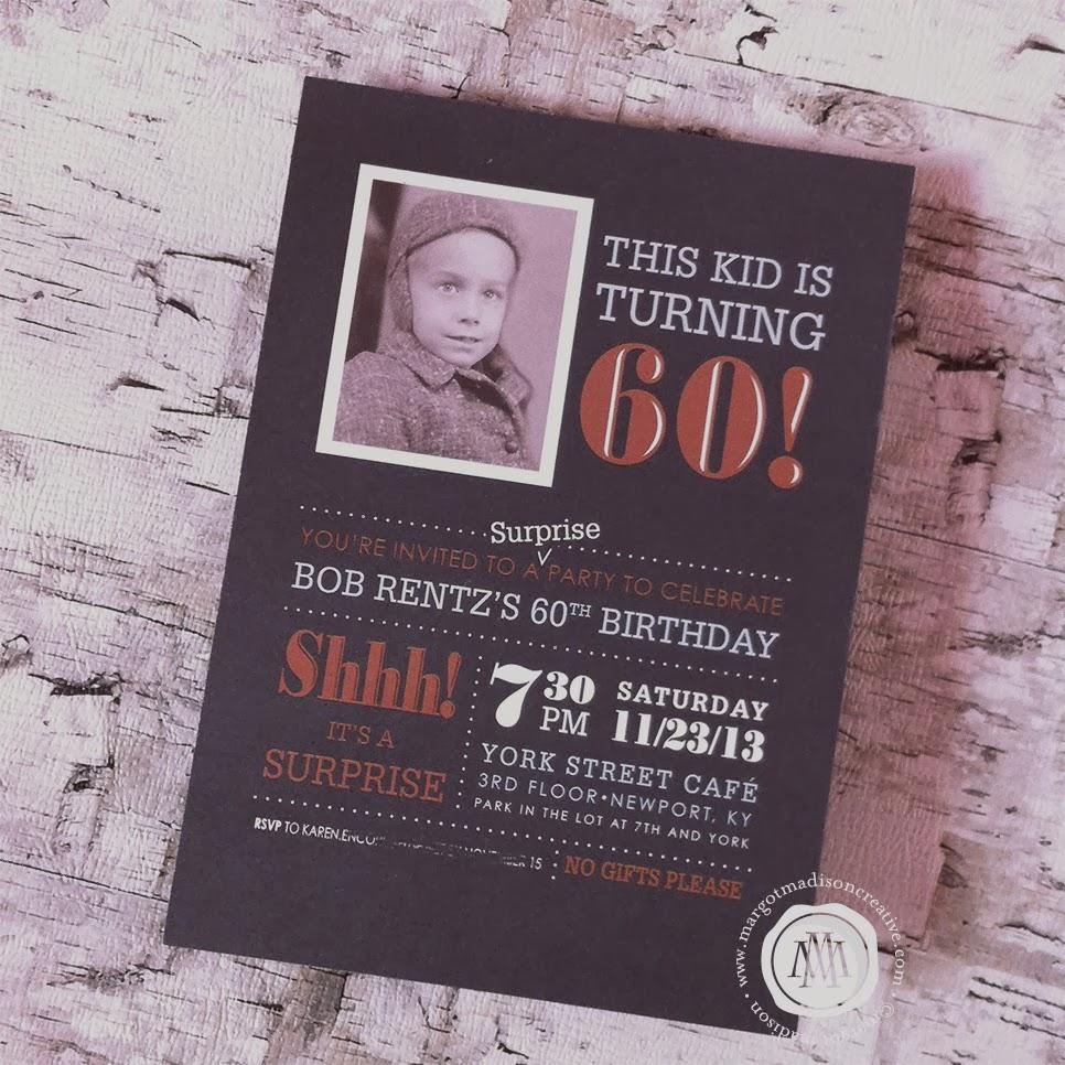MargotMadison: Surprise Party Invitations For Men