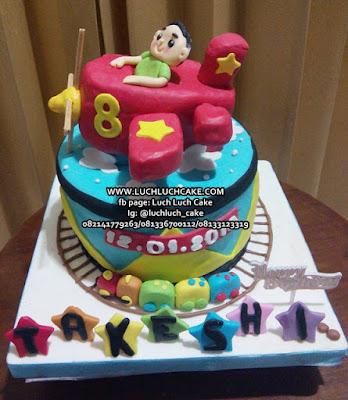 Kue Tart Pesawat Untuk Anak Cowok