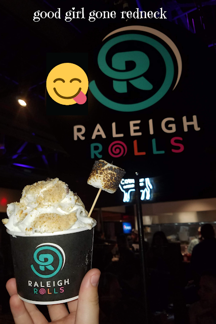 Raleigh, NC, downtown Raleigh, Morgan Street Food Hall, variety, food court, bar, local food, favorite eats, food blogger, rolled ice cream, thai ice cream, Raleigh Rolls, dessert, ice cream, dairy-free ice cream, coconut based ice cream
