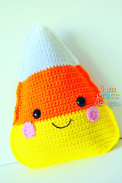 candy corn Kawaii Pillow Cuddler Crochet Pattern